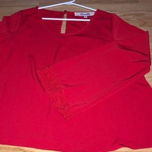 Tops - Red bell sleeve top